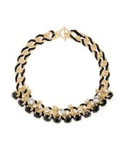 JEWELMINT black & gold necklace Chain RARE Crystal Holiday Link NEW Box Sold Out