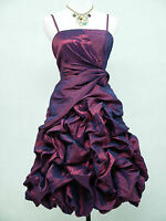 Cherlone Satin Purple Boho Prom Evening Wedding Party Cocktail Ball Gown Dress