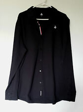 LE COQ SPORTIF N°10 FLEECE SHIRT RUGBY POLO MANCHES LONGUES TAILLE XXL NOIR
