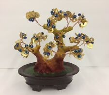 "Feng Shui 9"" Blue Evil Cat's Eye Money Tree in a pot Gift Home Decor US Seller"