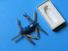 VICTORINOX Swiss Army Midnite Minichamp Knife 54974 Sapphire Blue Multi-Tool LED