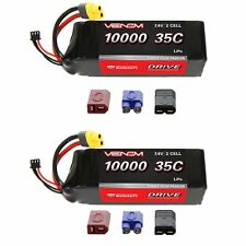 Venom 35C 2S 10000mAh 7.4V LiPo Battery with Universal Plug x2 Packs