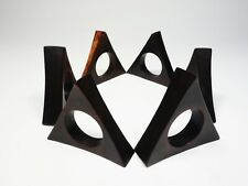 esa teak palisander holz serviettenringe mid century design rosewood napkin ring