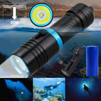 Scuba Diving 1200LM Waterproof Dive Torch Light underwater flashlight 2 x O-Ring