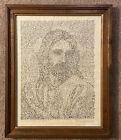 Vintage Framed Christ Reveled In His Own Words Print Anne Mcpherson Jesus Christ