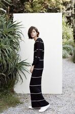 Ladies Mango Ribbed Navy Maxi Jumper Dress Size 12 Brand New