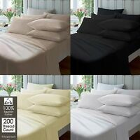 """Extra Deep 16""""/41cm Fitted Sheet Percale Quality Egyptian Cotton Sheets All Size"""