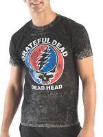 New Grateful Dead Head Steal Your Face Mineral Wash Unique OOAK T-Shirt M L XL