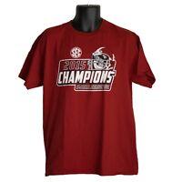 Alabama Crimson Tide 2015 SEC Champions Mens T-Shirt Red Size L Large