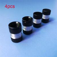 Black Car Tyre Tire Rim Wheel Air Valve Stem Dust Caps Cover Trim Accessories*4