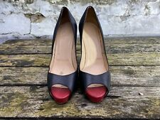 100% Authentic Black CHRISTIAN LOUBOUTIN Peeptoe heels size 41,5