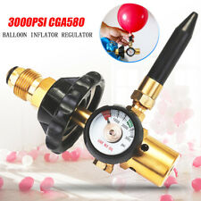 Helium Latex Balloon Air Inflator Regulator With Gauge For CGA580 Tank Valves US