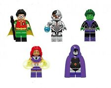 Teen Titans Cartoon Network 5 Figure Set Usa Seller New Minifigures Fits Legos
