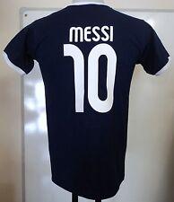 ARGENTINA Messi 10 Retrò Stile T-shirt Taglia Large Nuovo di Zecca