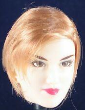 Gorgeous Oriental Beauty Custom Head Sculpt with Flapper Style Golden Brown Hair