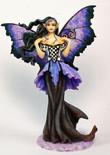 Retired Fairysite Limited Edition Amy Brown Goth Nouveau Blue Fairy Figurine
