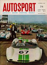 Autosport 5 Nov 1965 - Hansgen Beats the Chaparrals at Laguna Seca, Ginther Wins
