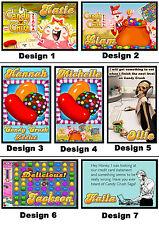 Personalised Candy Crush Fridge Magnet - w/ Name - Gift Idea - 7x5cm Game Addict