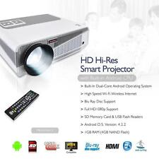 New! Hi-Res Smart Projector with Built-in Dual Core Android CPU 1080p & Blu Ray