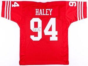 Charles Haley Signed San Francisco 49ers Jersey (JSA COA) 5xSuper Bowl Champion