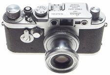 LEICA IIIg chrome 35mm rangefinder camera with 2.8/5cm Elmar 2.8 f=50mm lens kit