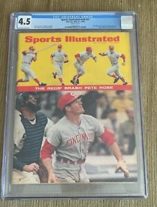 PETE ROSE 1968 SPORTS ILLUSTRATED MAGAZINE NEWSSTAND NO LABEL RC ROOKIE CGC 4.5