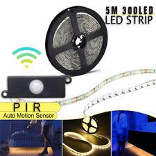 5M 3528 RGB LED Strip 300Leds Flexible Light+Auto Motion Sensor Switch+Adapter