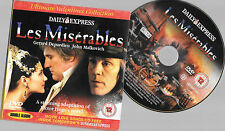 promo newspaper dvd full film LES MISERABLES gerard depardieu nearly 3 hrs +subs