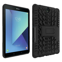 Shockproof Stand case, Backcover for Samsung Galaxy Tab S3 & Kickstand – Black