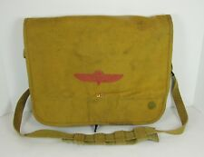 Military Style Canvas Messenger Crossover Bag Logo US Pin Distressed Worn Faded