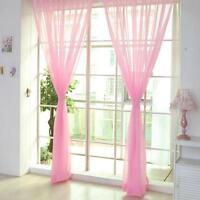 Pink Room Tulle Door Window Curtain Balcony Drape Panel Sheer Scarf Valance GA