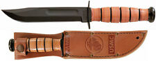 Ka-bar Kabar Short USMC Knife 1250+ Leather Sheath 13cm Blade Hunting KA1250