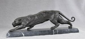 French Bronze Art Deco Puma Panther Cat Statue Casting