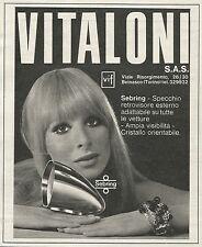 W3115 Specchio retrovisore VITALONI - Pubblicità 1967 - Advertising