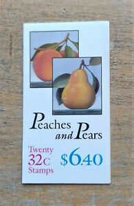 Peaches and Pears stamps sheet of 20 0.32 cents USPS 1994