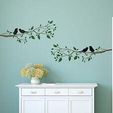 Craftstar pájaros en una rama Pared stencil-Reutilizables Hazlo tú mismo Plantilla De Decoración Del Hogar