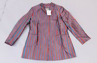 ASOS Women's Tailored Longline Stripe Jacquard Blazer NB7 Blue Size US:12 UK:16