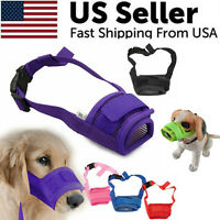 Adjustable Pet Dog Mask Small & Large Mouth Muzzle Grooming Anti Stop Bark Bite