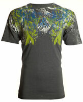 ARCHAIC by AFFLICTION Mens T-Shirt FABRICATE Tattoo CHARCOAL Biker MMA $40