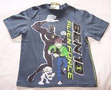 Ben 10 Alien Force Boys Steel Grey Printed Short Sleeve T Shirt Size 10 New