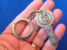 ST CHRISTOPHER St ANTHONY Key to Heaven Key Chain RING Protection