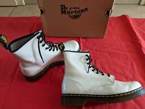 Dr. Martens Damen Schnür Schuhe Boots lack weiss Größe 42 eher 41