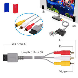 AV Câble cordon audio port console Wii vers 3-RCA pour Nintendo Wii