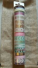 Recollections Planner Washi Tape Tube Pink Gold 14 ROLL Tea Party Hard to find