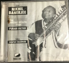 Purabi Kalyan 1982  Nikhil Banerjee (CD, 1995, 2 Discs, Raga Records) Like New