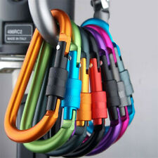 Duty D-Ring Carabiner Hook Screw Clip Lock Outdoor Rock Climbing 50KG 6X Heavy