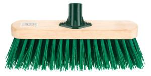 2x 12 inchSweeping Brush HEAD Stiff Bristle Outdoor Broom Garden  GREEN