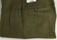 Ralph Lauren Polo Dalton Dress Pants Mens 34 Regular Flax Linen Green