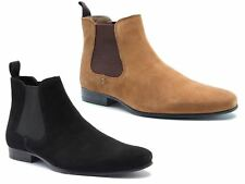 7822503a77800 Red Tape Mens Stanway Suede Pointed Leather Ankle Chelsea Tan Brown Black  Boots