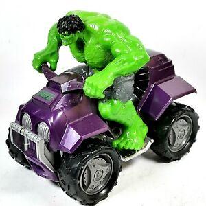Hasbro Incredible Hulk Four Wheeler ATV Marvel Vehicle. Hulk figure and vehicle